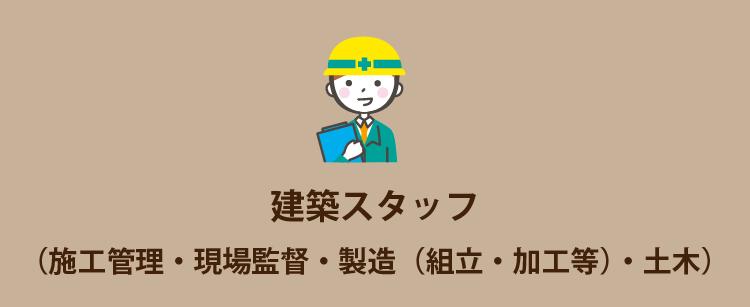 建築スタッフ(施工管理・現場監督・製造(組立・加工等)・土木)